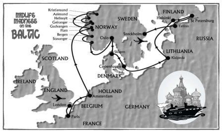 Baltic Cruise Map