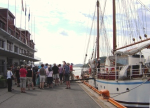 Off on our Tall Ship