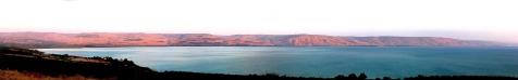 06 Sea of Galilee 4 - sunset panorama