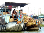 blog6 16 shopping on the Mekong-floating markets