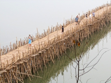 blog8 45 dusty village life-bamboo bridge