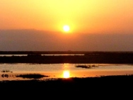 blog4-14 sunset on Amboseli